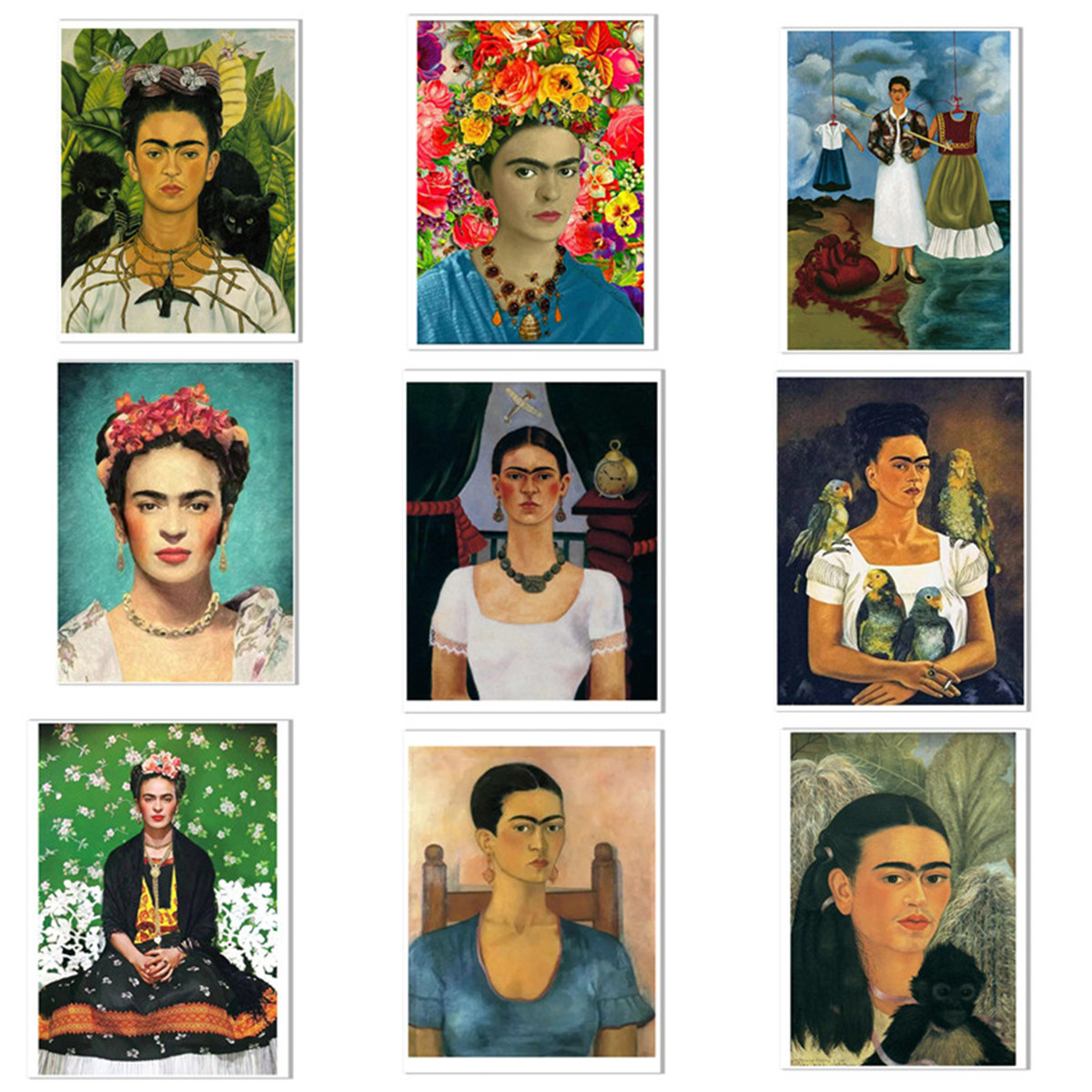 Frida Kahlo affiche toile murale Art peinture decoration ...