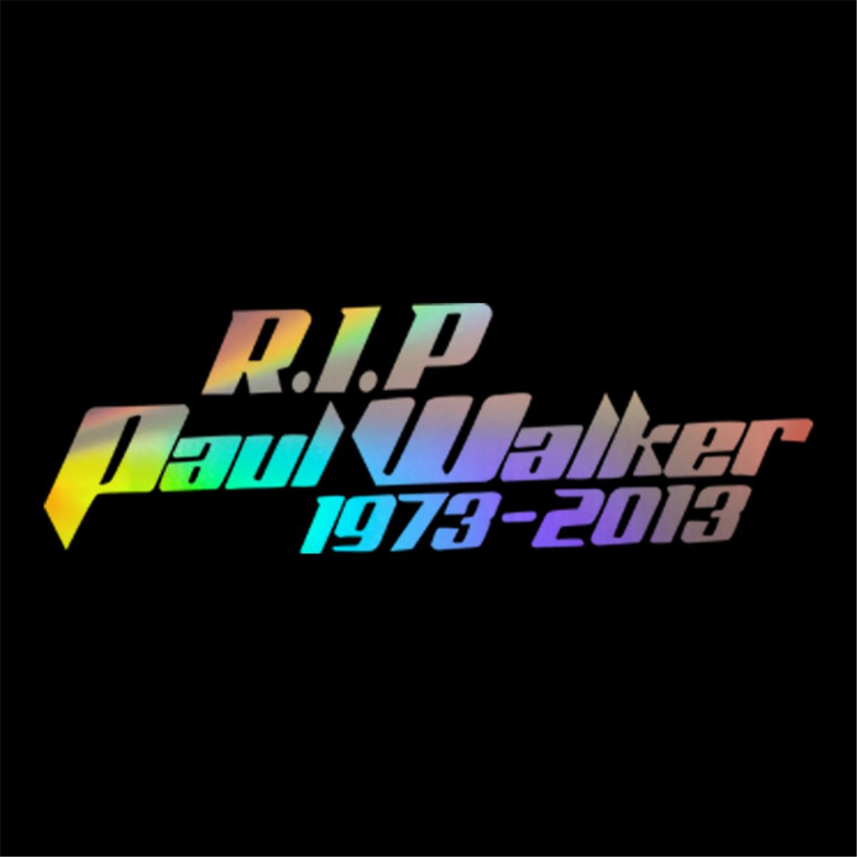 Rip Paul Walker Car Decal Window Door Laptop Bumper Auto Vinyl Sticker Decor