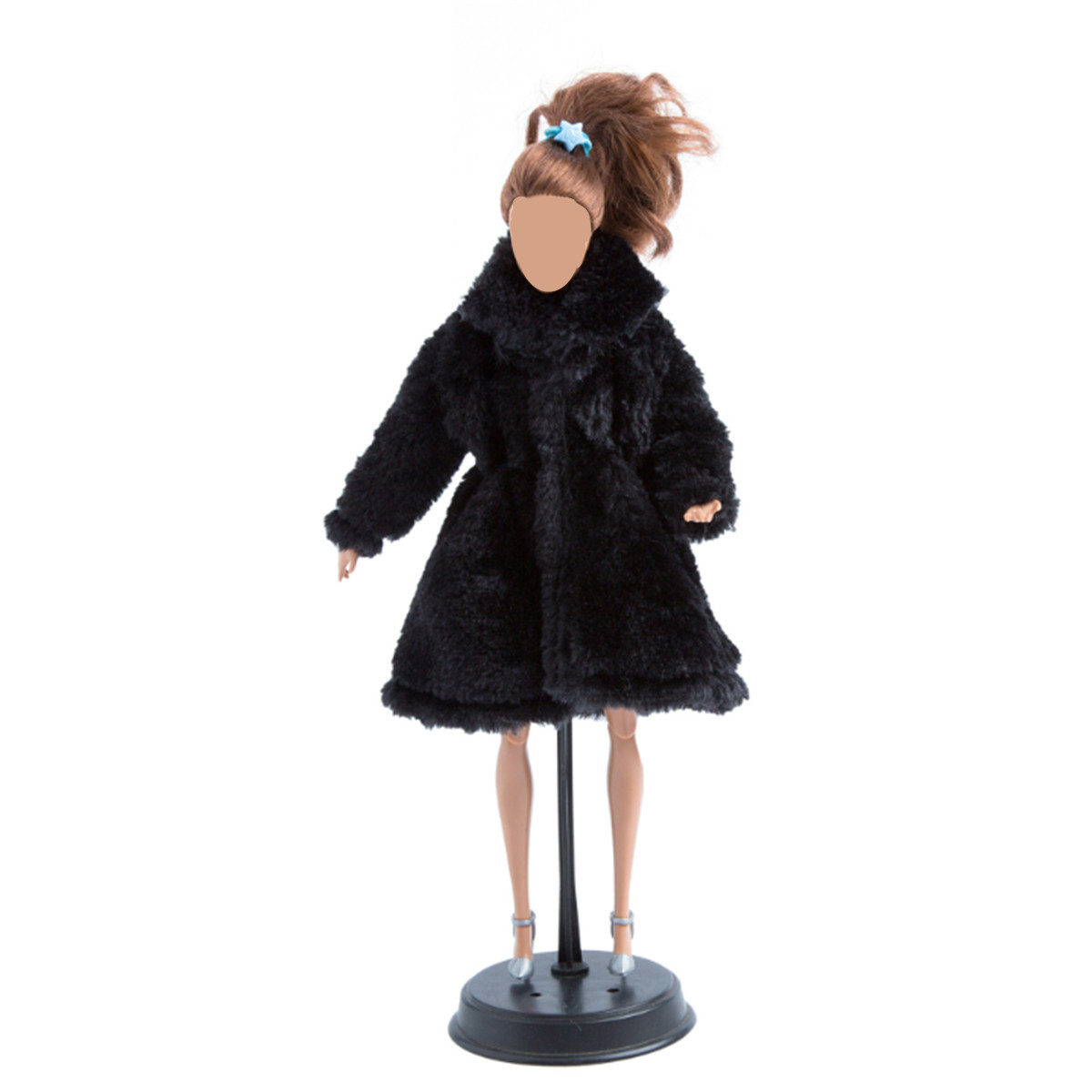 Handmade Fashion Winter Warm Overcoat Plush Fur Coat