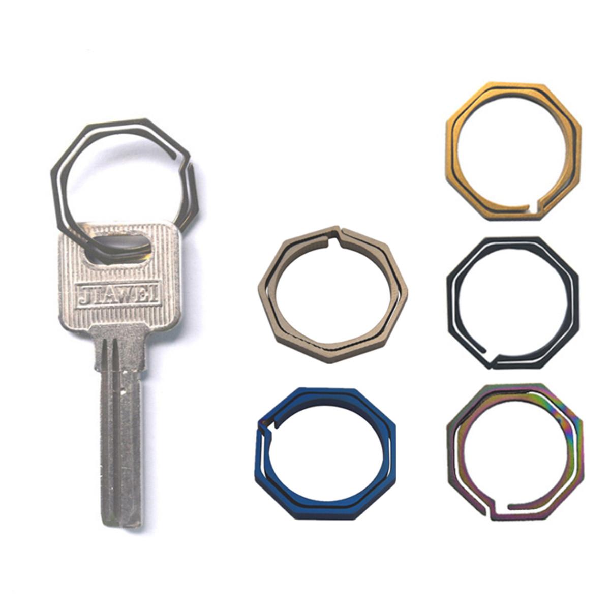 Holder Keychain Mini Wear-resistant Hard Titanium Alloy Backpack Hanging