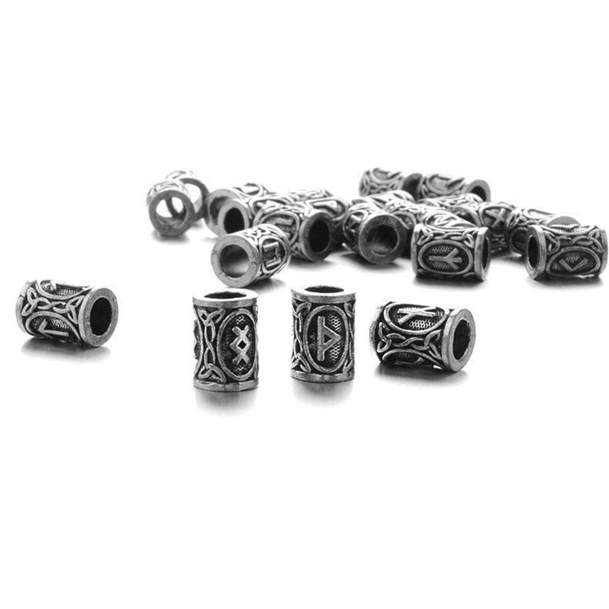 1 ~ 24pcs Norse Viking Rune Beads Jewelry Making À faire soi-même Cheveux Barbe Bracelet Collier