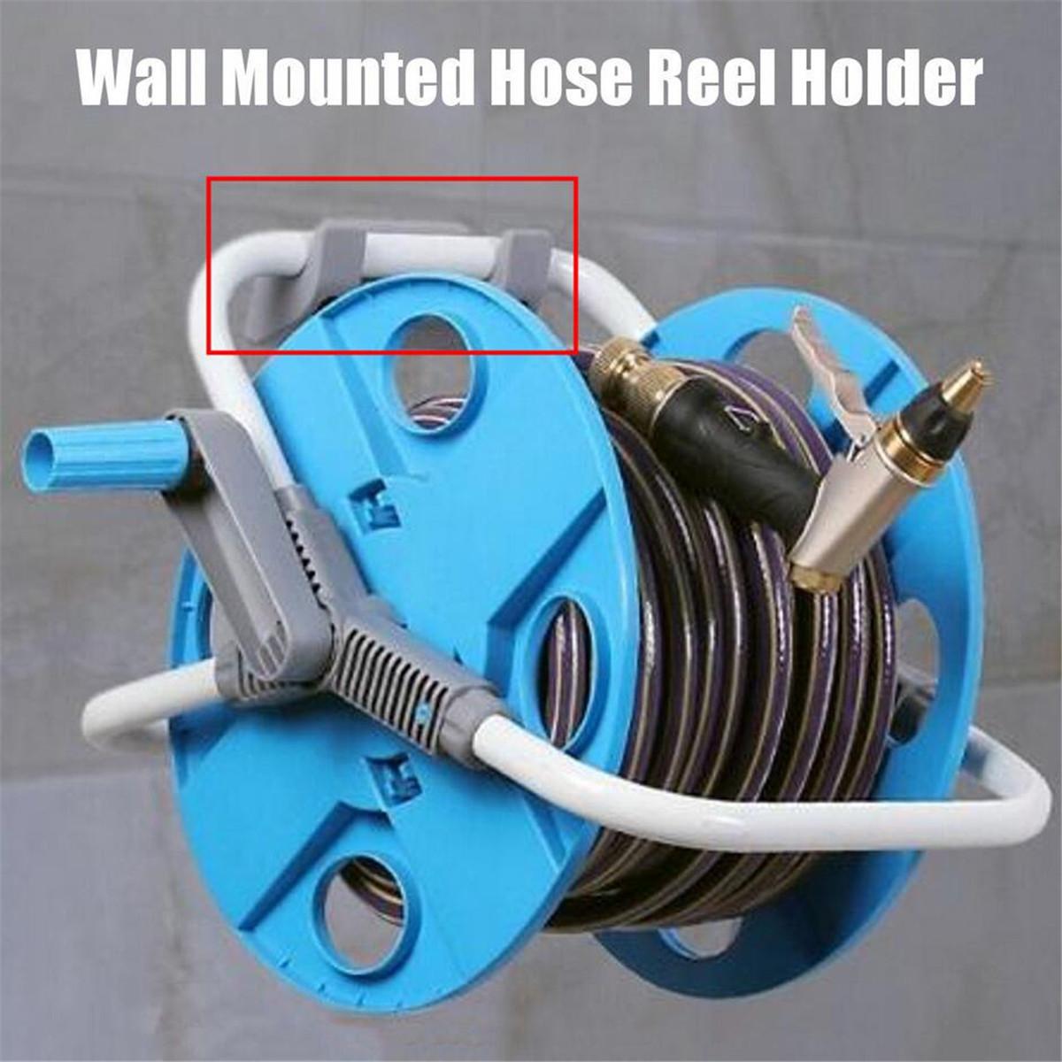 Garden Hose Bracket: Grey Water Hose Reel Holder Wall Mount Garden Hose Storage