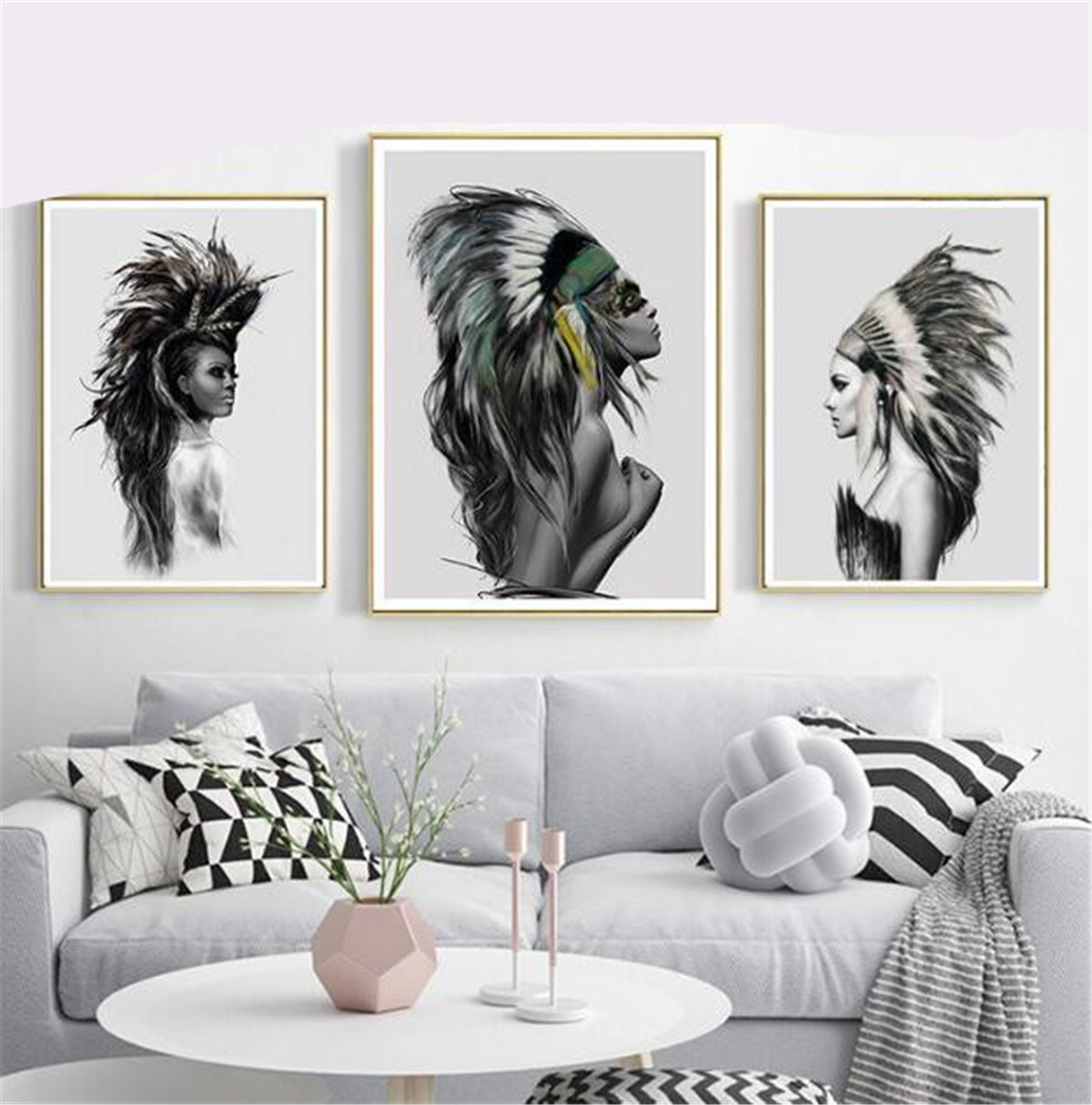 Native American Indian Feather Print