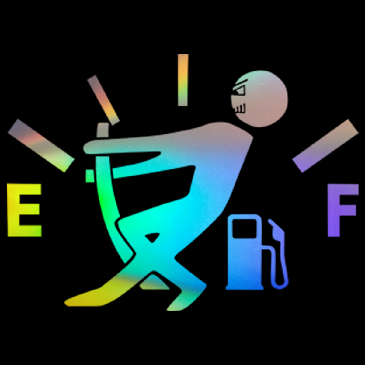 Funny Car Vinyl Sticker High Gas Consumption Decal Fuel Gage Empty Removable