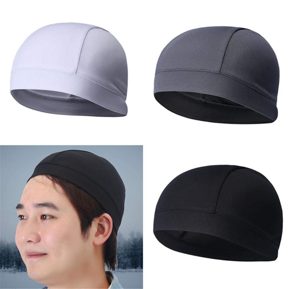 317c32f61 Details about 1pc Skull Cap Under Helmet Liner Beanies Bandana For Cycling  Motorcycle Running