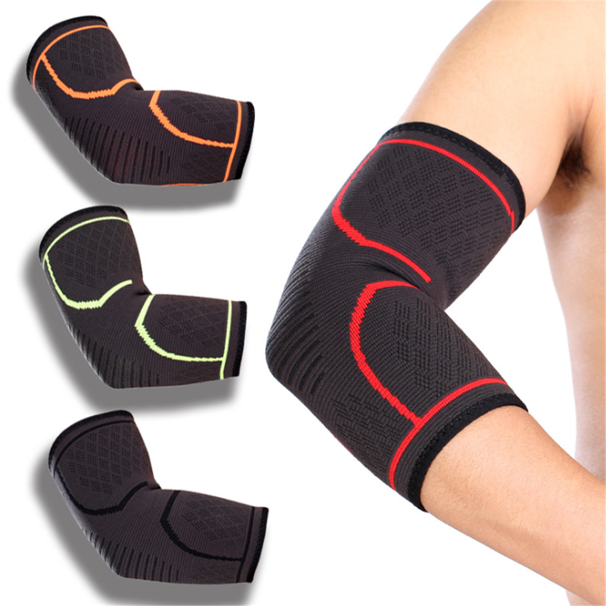 Elbow Support Brace Arthritis Bandage Arm Compression Sleeve .