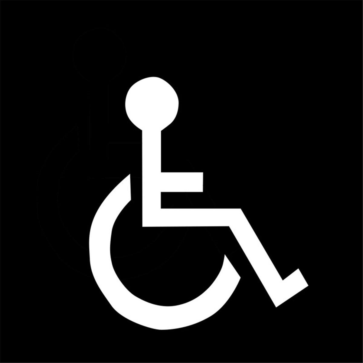 Handicap Parking Space Decal Wheelchair Disabled vinyl sticker outdoor sign
