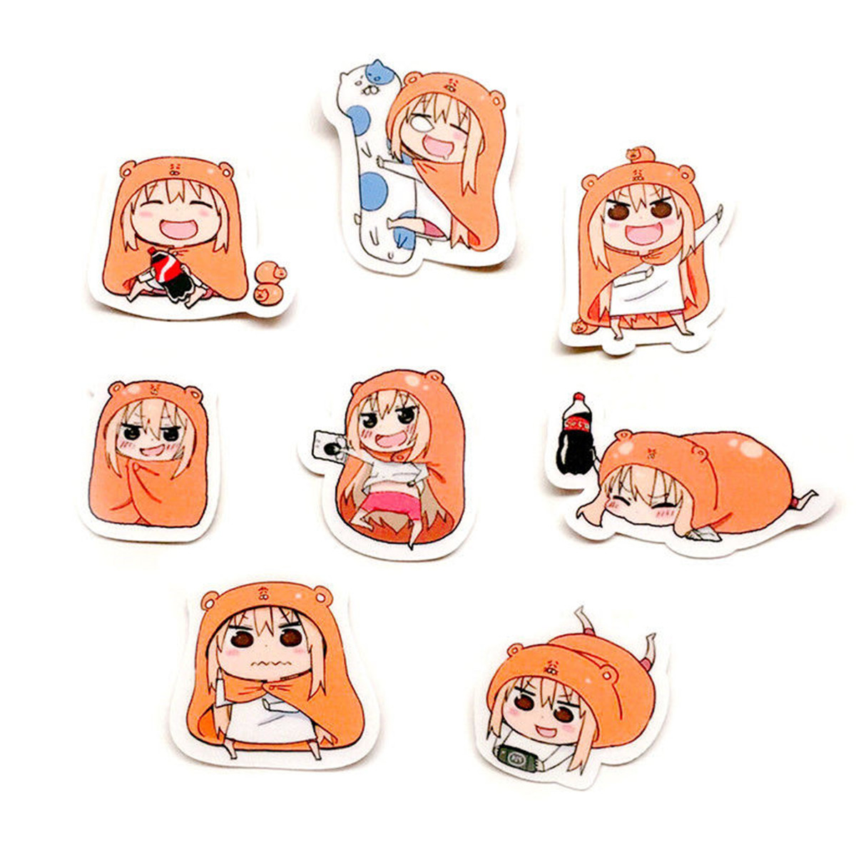 Umaru-chan Suitcase Stickers Phone Stickers Decal Cute 24pcs//set Himouto