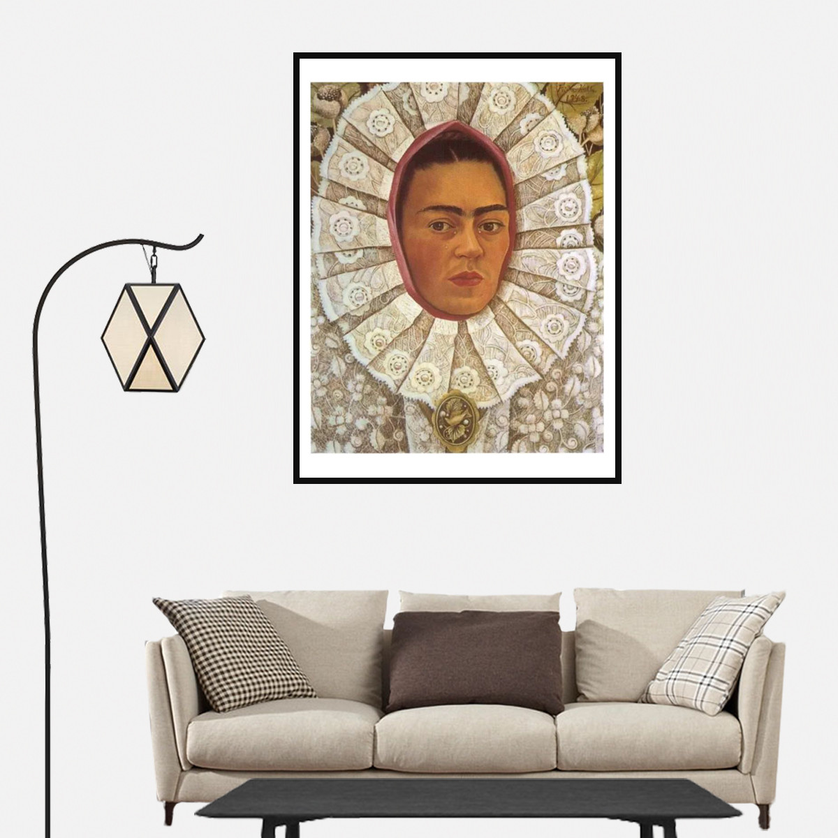 Frida Kahlo Painter Canvas Art Painting Poster Living Room Cafe Home Wall Decor