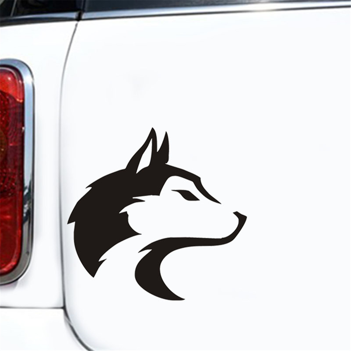 Details about wolf head silhouette vinyl sticker auto car truck wall laptop motorcycle decal