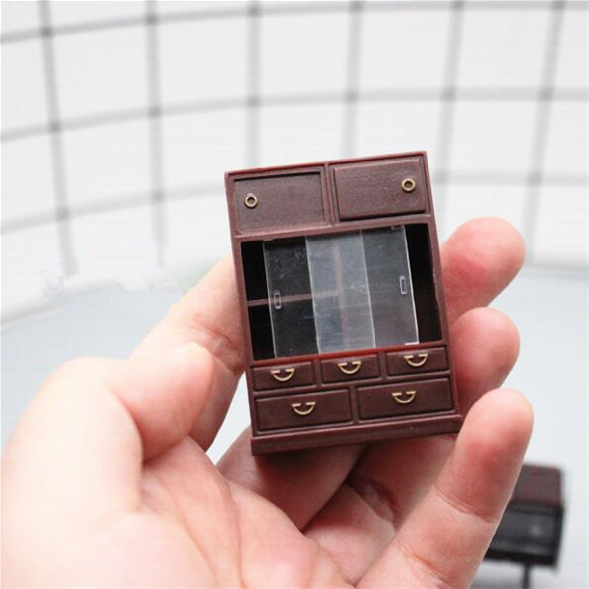 6pcs//set Doll House Miniature  Japanese Vintage Mini Furniture DIY Accessories