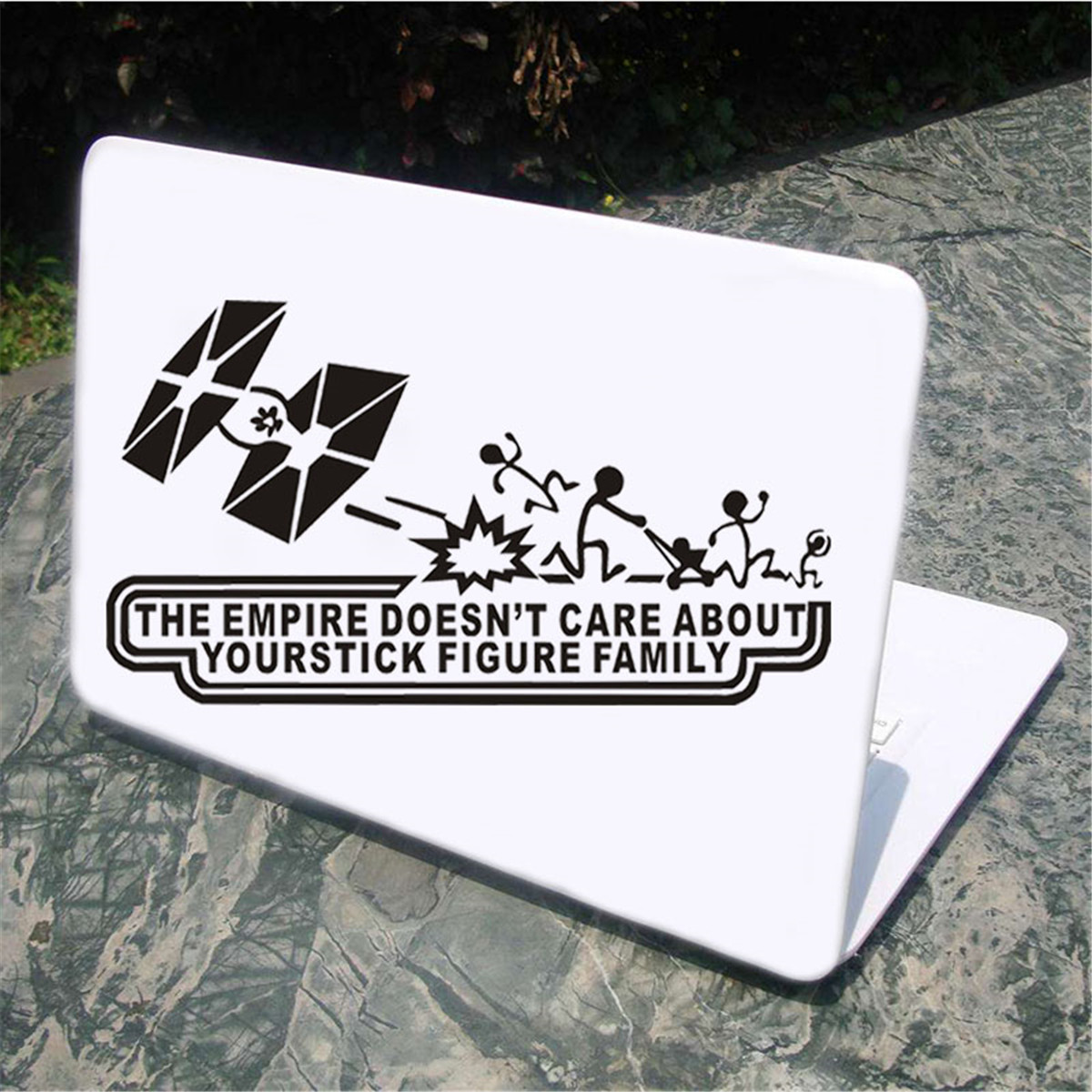 Details about car empire stick figure 2 star wars vinyl decal funny window sticker multicolor