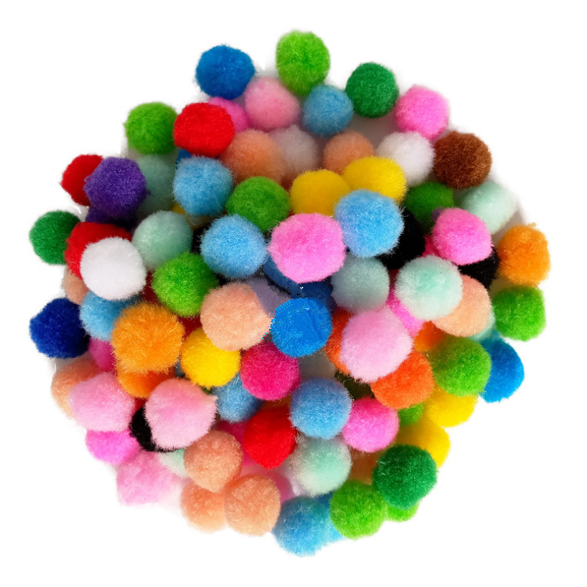 2000Pcs 1cm Pom Poms Multicolor Pompoms Fuzzy Pom Poms Balls for Crafts Making Hobby Supplies Arts DIY Projects Creative Crafts Decorations