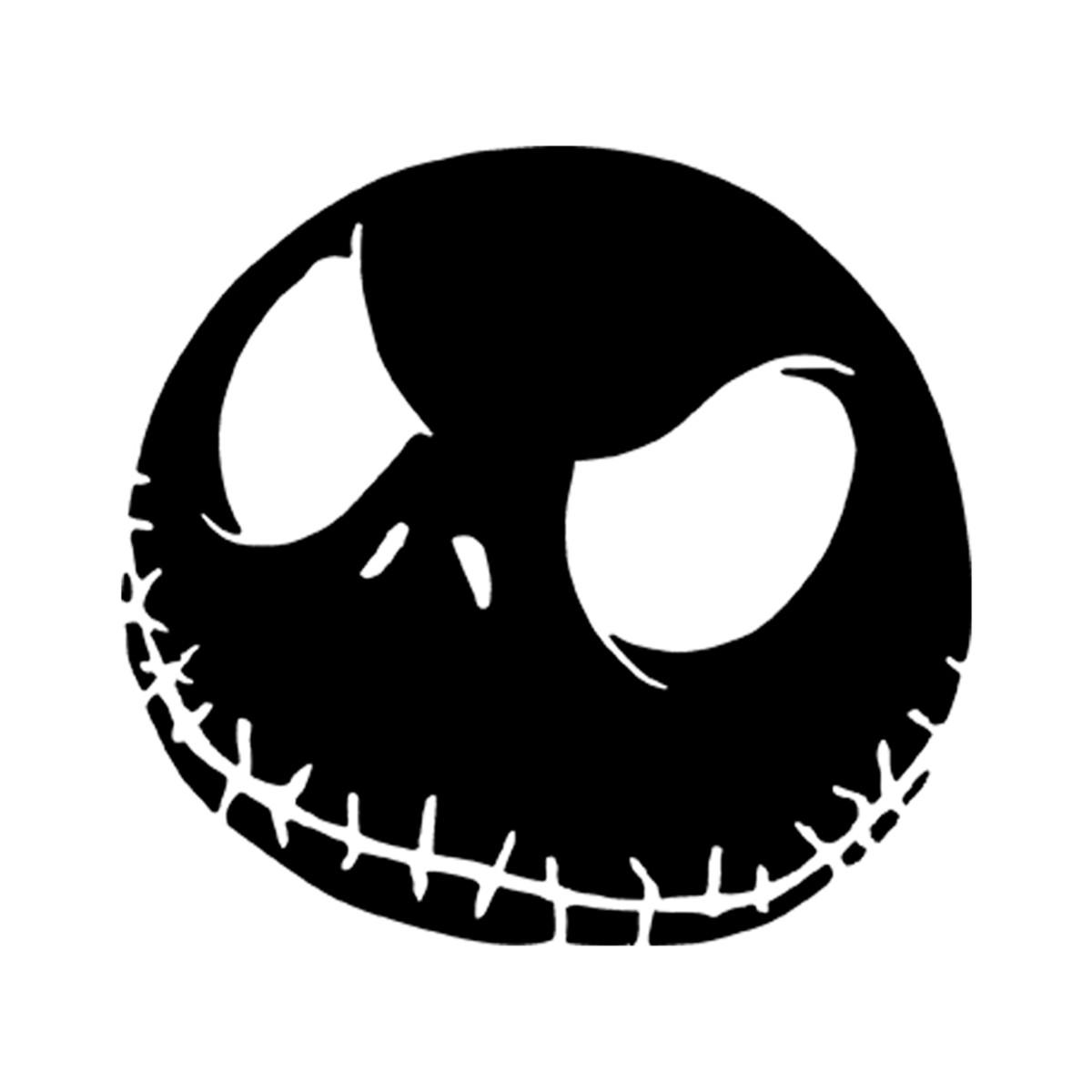 4 x jack skellington DECAL LOGO FOR CAR//VAN//LAPTOP VINYL STICKER FUNNY halloween