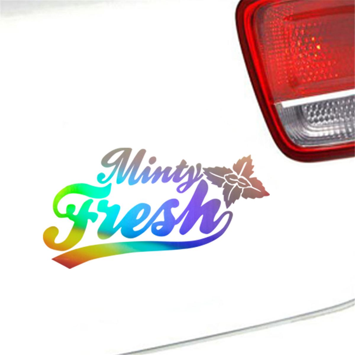 Details about minty fresh funny sticker car bumper window door laptop wall decor vinyl decal